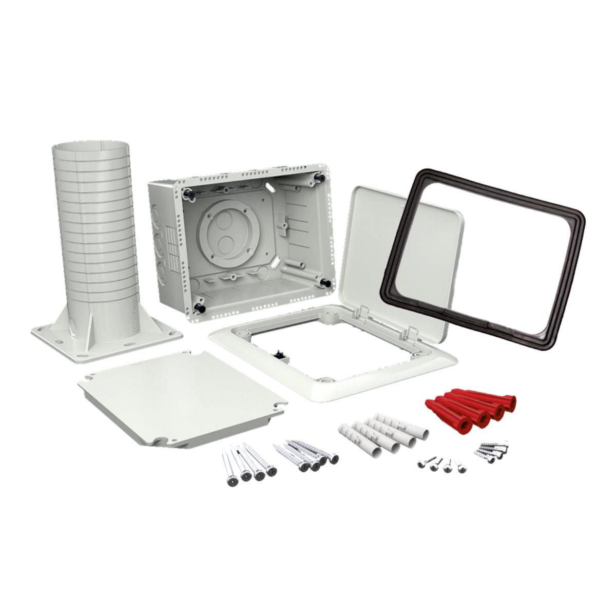 92a70010e KUZ-VOI KB - krabice univerzální do zateplení s tubusem a otevíracím víkem