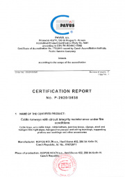 Certification report