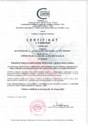 Certifikát DIN