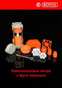 Elektroinstalace ukrytá v litých betonech