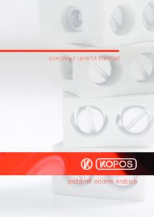 Elektroinstalační krabice pro systémy se zachováním funkčnosti při požáru