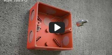 Embedded thumbnail for Montážny návod požiarne odolnej elektroinštalačnej krabice KSK 100 PO