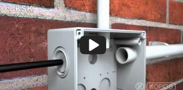 Embedded thumbnail for Montážny návod elektroinštalačnej krabice KSK s krytím IP 66